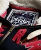 Superdry Applique Zip Hoodie Navy