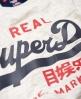 Superdry Vintage Logo Duo T-Shirt  Grau