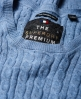 Superdry Summer Luxe Mini Cable Knit Jumper Blue