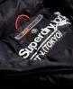Superdry Cazadora con cremallera doble y capucha Fuji Slim Negro