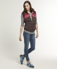 Superdry Retro Sherpa Gilet Red