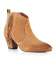 Superdry Louisiana Fringed Ankle Boots Brown