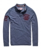 Superdry Super State Long Sleeve Polo Shirt Blue