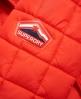 Superdry Cazadora con capucha Box Quilt Fuji  Rojo