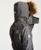 Superdry Cazadora con capucha Fur Sherpa Wind Attacker Gris