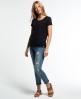 Superdry Super Sewn Rugged Lace T-Shirt Schwarz