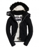 Superdry Giubbotto con cappuccio Fur Sherpa SD-Wind Attacker Nero