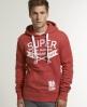 Superdry Dry Goods Hoodie Red
