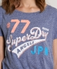 Superdry Angels Oversized Tee Navy