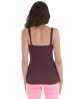 Superdry Lace Rib Vest Top Purple