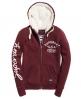 Superdry Applique hoodie met rits Paars