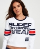 Superdry Cropped Crew Neck Sweatshirt White