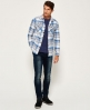 Superdry Milled Flannel Shirt Grey