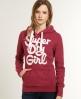 Superdry Girl Hoodie Red