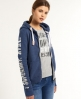 Superdry State Athletics Hoodie Blue
