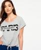 Superdry T-shirt noué à l'avant Gris