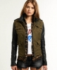 Superdry Megan Skinny Mix Jacket Green