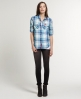Superdry Sheer Calamity Shirt Blue
