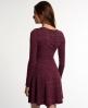 Superdry Essential Twist Yarn Skater-Kleid Lila