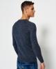Superdry Jersey de algodón y cuello redondo Premium City Azul