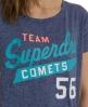 Superdry Comets Oversized T-shirt Blue