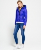 Superdry Hooded Box Quilt Fuji Jacket Blue