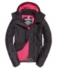 Superdry Veste Pop Zip Hooded Arctic Windcheater Gris Foncé
