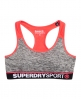 Superdry Gym Panel Sports Bra Grey