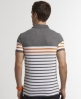 Superdry Drop Breton Stripe Polo Grey