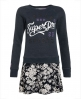 Superdry JPN Sweater Combo Kleid Marineblau