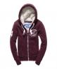 Superdry Track & Field Fur Lined Zip Hoodie Red