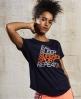 Superdry T-shirt SD Sport Fitspiration  Bleu Marine