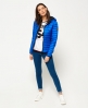 Superdry Core Down Hooded Jacket Blue
