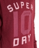 Superdry Number Burnout T-shirt Red