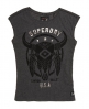 Superdry Savanna Fringe Skull T-Shirt  Grau