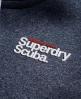 Superdry Scuba Zip Hoodie Navy