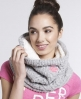 Superdry Nep Cable Snood Light Grey