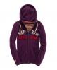 Superdry Appliqué Zip Hoodie Purple