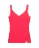 Superdry Lace Rib Vest Top Red
