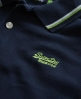 Superdry Tri Tipped Pique Polo Navy