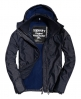 Superdry Pop Zip Hooded Arctic Windcheater Jacket Navy