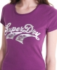 Superdry Double Swoosh T-shirt Purple