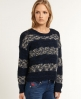 Superdry Salcombe Stripe Sweater Navy