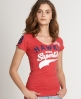 Superdry Hawks T-shirt Red