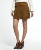 Superdry Premium Billie Suede Skirt Brown