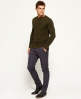 Superdry Pantaloni slim fit in cotone City Grigio