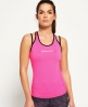 Superdry Gym Duo Strap Vest Top Pink