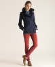 Superdry Cropped Hooded Raincoat Blue