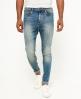 Superdry Spray on Skinny Jeans  Blå