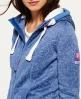 Superdry Sweat zippé à capuche Storm  Bleu